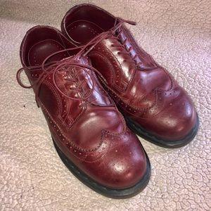 Men's 11 Dr. Martin's oxblood red burgundy shoes